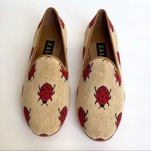 Vintage ZALO Lucky Ladybug Loafers